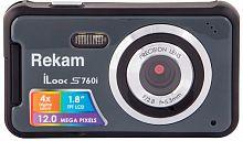 "Фотоаппарат Rekam iLook S760i темно-серый 12Mpix 1.8"" SD/MMC CMOS IS el/AAA"