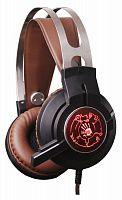 Наушники с микрофоном A4 Bloody G430 черный/коричневый 2.3м мониторные оголовье (G430 BROWN)