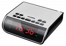 Радиобудильник Hyundai H-RCL100 белый LED подсв:красная часы:цифровые FM