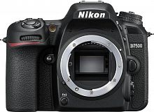 "Зеркальный Фотоаппарат Nikon D7500 черный 20.9Mpix 3.15"" 4K 4K SDXC Li-ion (без объектива)"