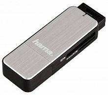 Устройство чтения карт памяти USB3.0 Hama H-123900 серебристый