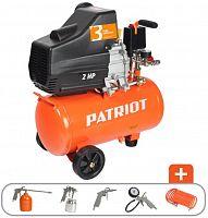 Компрессор поршневой Patriot EURO 24-240K масляный 240л/мин 24л 1500Вт оранжевый