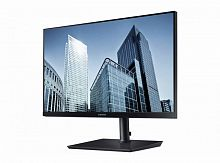 "Монитор Samsung 23.8"" S24H850QFI черный PLS LED 5ms 16:9 HDMI матовая HAS Pivot 1000:1 300cd 178гр/178гр 2560x1440 DisplayPort WQHD 6.4кг"