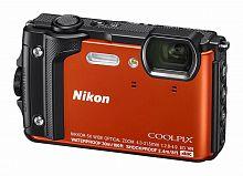 """Фотоаппарат Nikon CoolPix W300 оранжевый 16Mpix Zoom5x 3"""" 4K 99Mb SDXC/SD/SDHC CMOS 1x2.3 50minF 30fr/s HDMI/KPr/DPr/WPr/FPr/WiFi/GPS/EN-EL12"""