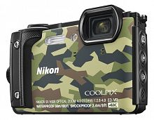 "Фотоаппарат Nikon CoolPix W300 камуфляж 16Mpix Zoom5x 3"" 4K 99Mb SDXC/SD/SDHC CMOS 1x2.3 50minF 30fr/s HDMI/KPr/DPr/WPr/FPr/WiFi/GPS/EN-EL12"