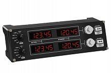 Панель радиоприборов Logitech G Saitek Pro Flight черный USB виброотдача