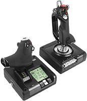 Джойстик Logitech G Saitek X52 Pro Flight Control System черный USB виброотдача
