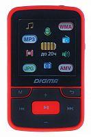 "Плеер Flash Digma T3 8Gb черный/красный/1.5""/FM/microSD"