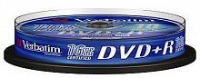 Диск DVD+R Verbatim 4.7Gb 16x Cake Box (10шт) (43498)