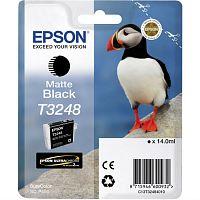 Картридж струйный Epson T3248 C13T32484010 черный матовый (650стр.) (14мл) для Epson SureColor SC-P400