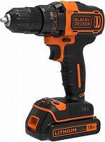 Дрель-шуруповерт Black & Decker BDCDD186KB-QW аккум. патрон:быстрозажимной