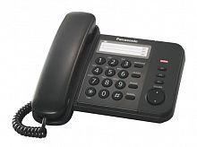 Телефон проводной Panasonic KX-TS2352RUB черный