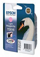 Картридж струйный Epson T0816 C13T11164A10 светло-пурпурный (990стр.) (11.1мл) для Epson R270/290/RX590