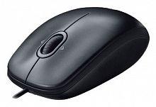 Мышь Logitech M100 черный/темно-серый оптическая (1000dpi) USB1.1 (2but)