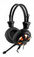 Наушники с микрофоном A4 HS-28 оранжевый/черный 2.2м накладные оголовье (HS-28 (ORANGE BLACK))