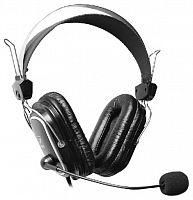 Наушники с микрофоном A4 HS-50 черный 2.5м мониторы оголовье