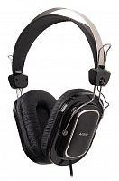 Наушники с микрофоном A4 HS-200 черный 1.8м мониторы оголовье