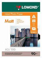 Фотобумага Lomond 0102011 A3/90г/м2/100л./белый матовое для струйной печати