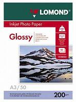 Фотобумага Lomond 0102024 A3/200г/м2/50л./белый глянцевое для струйной печати