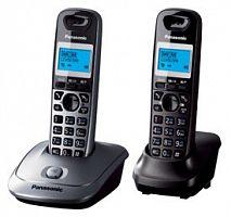 Р/Телефон Dect Panasonic KX-TG2512RU1 серый металлик (труб. в компл.:2шт) АОН