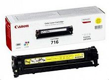 Картридж лазерный Canon 716Y 1977B002 желтый (1500стр.) для Canon LBP-5050/5050N