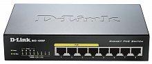 Коммутатор D-Link DGS-1008P/D1A 8G 4PoE неуправляемый