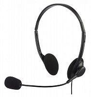 Наушники с микрофоном Оклик HS-M143VB черный 1.8м накладные оголовье
