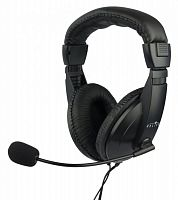 Наушники с микрофоном Оклик HS-M137V черный 1.8м мониторные оголовье