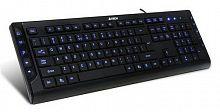 Клавиатура A4 KD-600L черный USB Multimedia LED