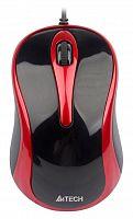 Мышь A4 V-Track Padless N-360-2 красный/черный оптическая (1000dpi) USB (3but)
