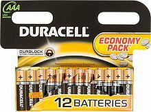 Батарея Duracell Basic LR03-12BL MN2400 AAA (12шт)