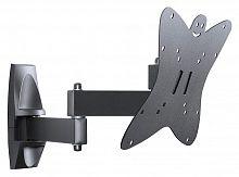 "Кронштейн для телевизора Holder LCDS-5038 металлик 20""-37"" макс.30кг настенный поворот и наклон"