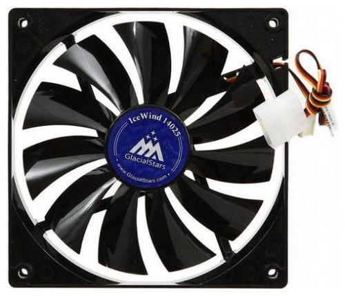 Вентилятор Glacialtech IceWind GS14025 140x140x25mm 3-pin 4-pin (Molex)26dB Bulk