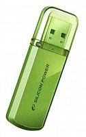 Флеш Диск Silicon Power 32Gb Helios 101 SP032GBUF2101V1N USB2.0 зеленый