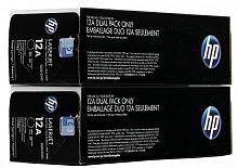 Картридж лазерный HP Q2612AF черный x2упак. (4000стр.) для HP LJ 1010/1012/1015