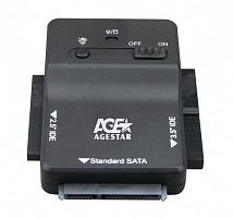 "Адаптер-переходник для HDD AgeStar 3FBCP1 IDE SATA пластик черный 2.5"" 3.5"""