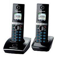 Р/Телефон Dect Panasonic KX-TG8052RUB черный (труб. в компл.:2шт) АОН