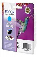 Картридж струйный Epson T0802 C13T08024011 голубой (7.4мл) для Epson P50/PX660