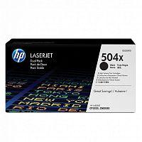 Картридж лазерный HP 504X CE250XD черный x2упак. (21000стр.) для HP CLJ CP3525/CM3530