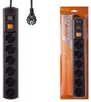 Сетевой фильтр Most H6 5м (6 розеток) черный (коробка)