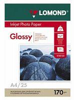 Фотобумага Lomond 102143 A4/170г/м2/25л./белый глянцевое для струйной печати
