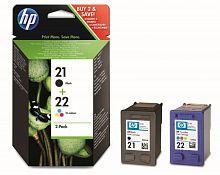 Картридж струйный HP 21+22 SD367AE многоцветный/черный x2упак. для HP DJ 3900/D1400/D1500