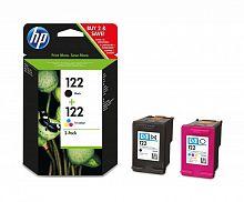 Картридж струйный HP 122 CR340HE черный/трехцветный набор карт. для HP DJ 1050/2050/2050s