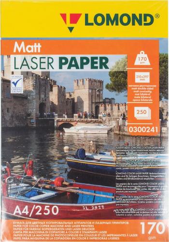 Бумага Lomond 0300241 A4/170г/м2/250л./белый матовое/матовое для лазерной печати