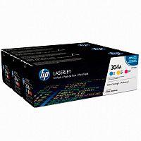 Картридж лазерный HP 304A CF372AM голубой/пурпурный/желтый x3упак. (2800стр.) для HP CLJ 2025/CM2320