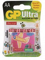 Батарея GP Ultra Alkaline 15AUGL LR6 AA (промо:Подари Жизнь!) (4шт)