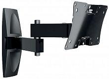 "Кронштейн для телевизора Holder LCDS-5064 черный 10""-32"" макс.30кг настенный поворот и наклон"