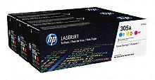 Картридж лазерный HP 305A CF370AM голубой/желтый/пурпурный x3упак. для HP CLJ M451