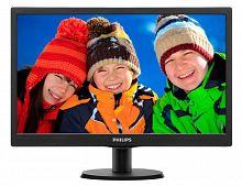 "Монитор Philips 19.5"" 203V5LSB26 (10/62) черный TN+film LED 16:9 матовая 200cd 1600x900 D-Sub 2.33кг"