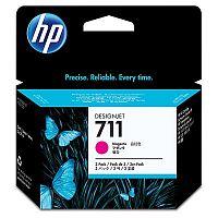 Картридж струйный HP 711 CZ135A пурпурный x3упак. для HP DJ T120/T520